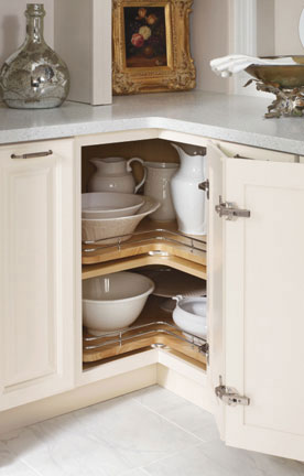 Super-organize your kitchen with this super susan with chrome rails from Diamond