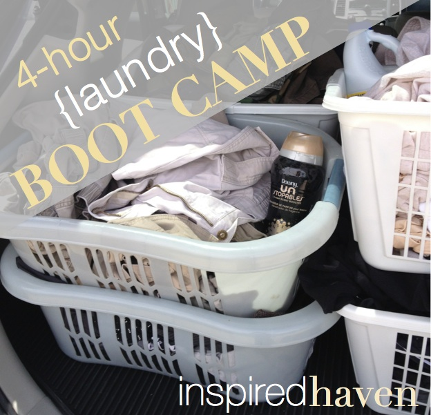 4 hour laundry bootcamp - get your entire week's worth of laundry done in 4 hours! | Inspired Haven