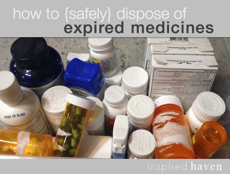 How should outdated medications be disposed of?