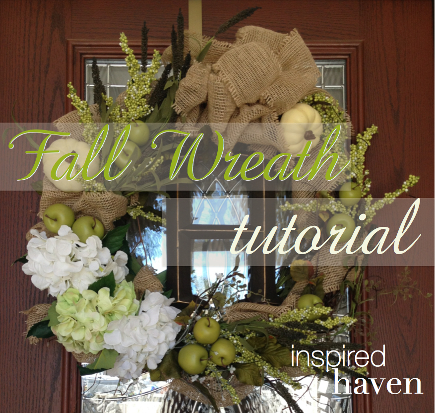 Step by step how-to for a DIY fall wreath! | Inspired Haven