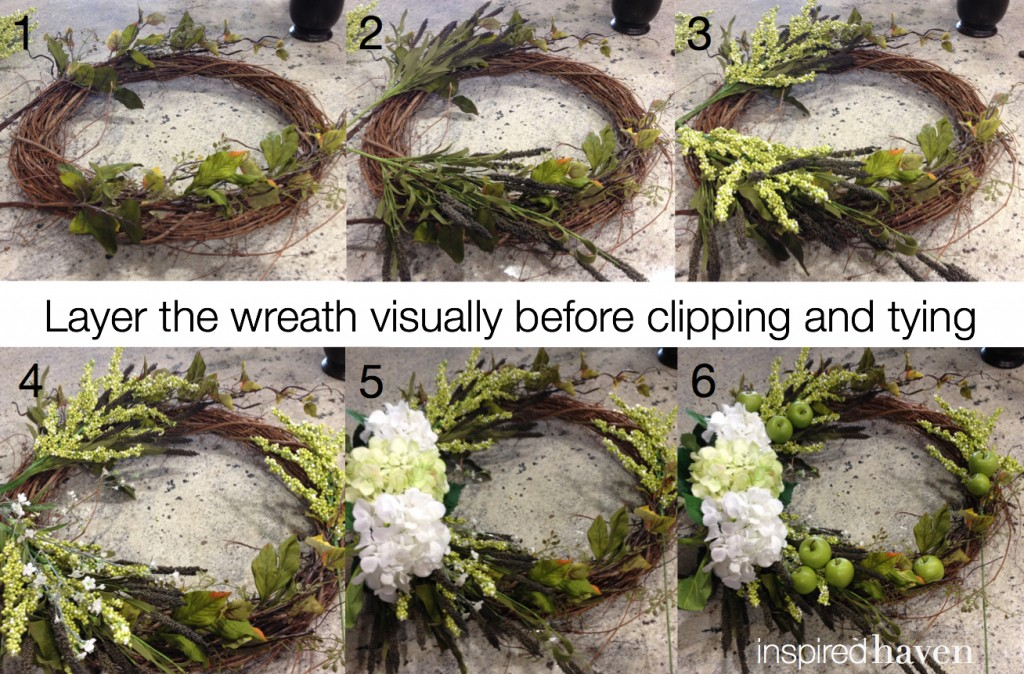 Fall wreath layers