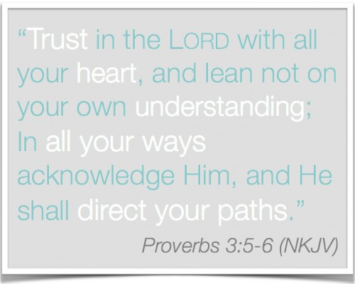 Proverbs 3:5-6 Trust | Inspired Haven