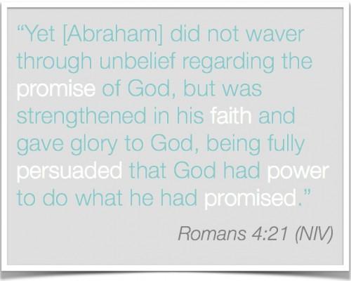 Romans 4-21 Trusting in God's promises | Inspired Haven