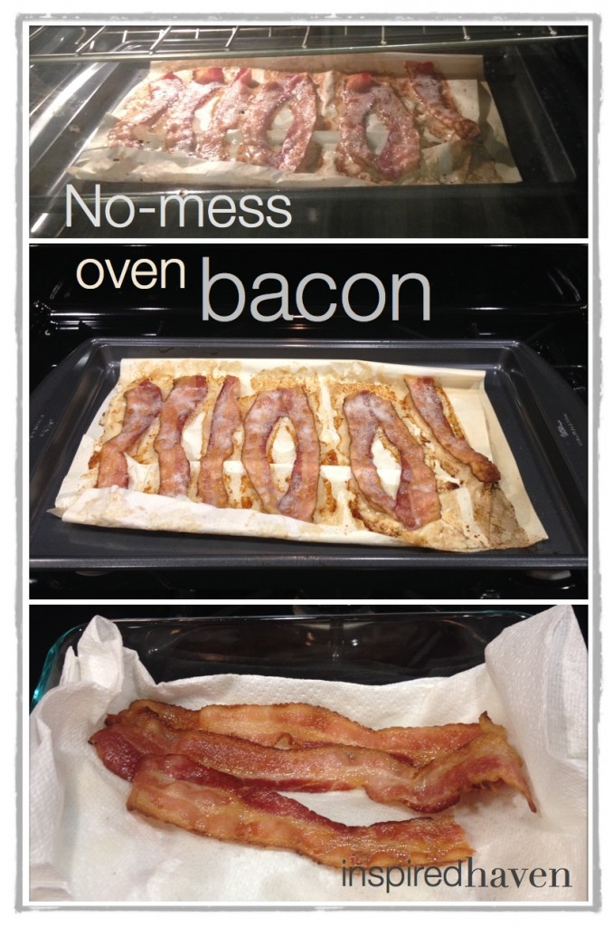 No mess oven bacon