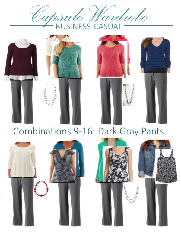 25 pieces, 40 outfits, Capsule wardrobe: options 9-16 | Inspired Haven
