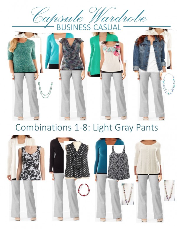 How to create a capsule wardrobe: combination options 1-8 | Inspired Haven