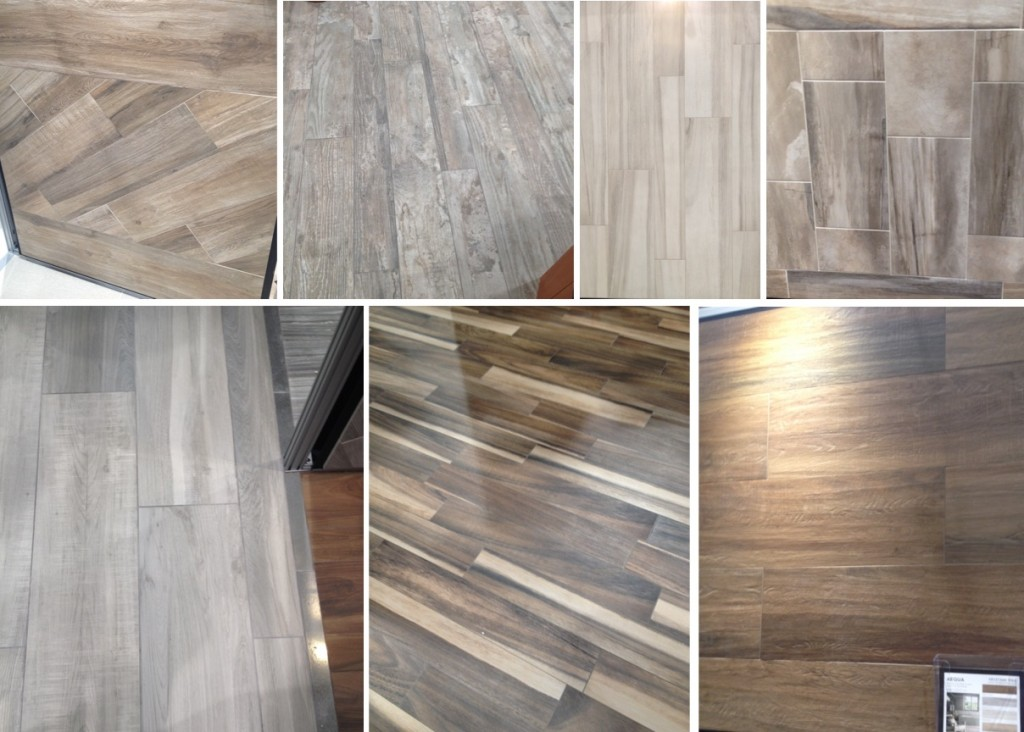 Faux bois tile is hot for 2015 at #KBIS