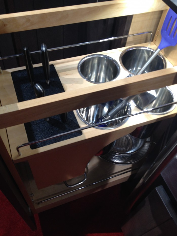 Knife and utensil pull-out, Rev-a-Shelf, KBIS 2015