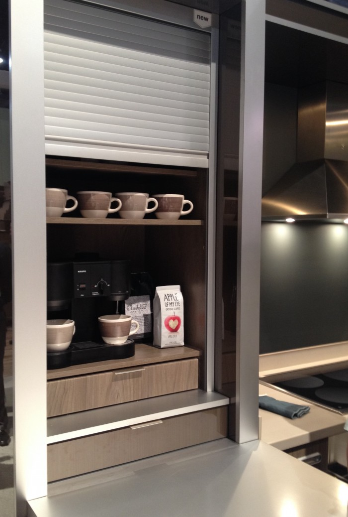 Coffee bar with metal tambour, KitchenCraft at KBIS 2015
