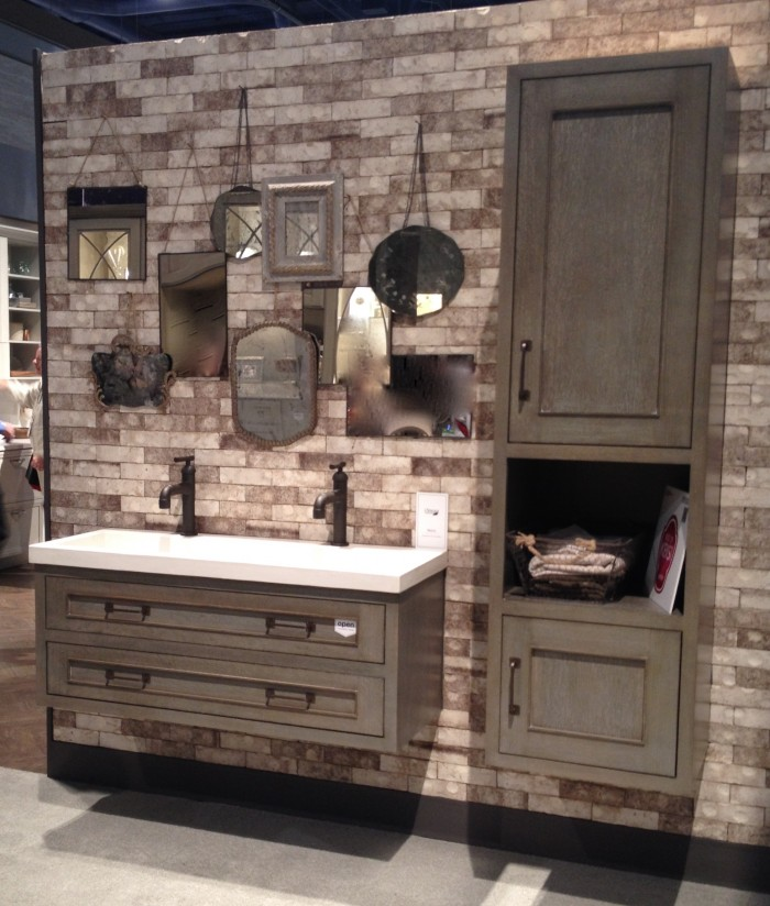 Wall hung vanities and linen cabinets are hot at 2015 KBIS