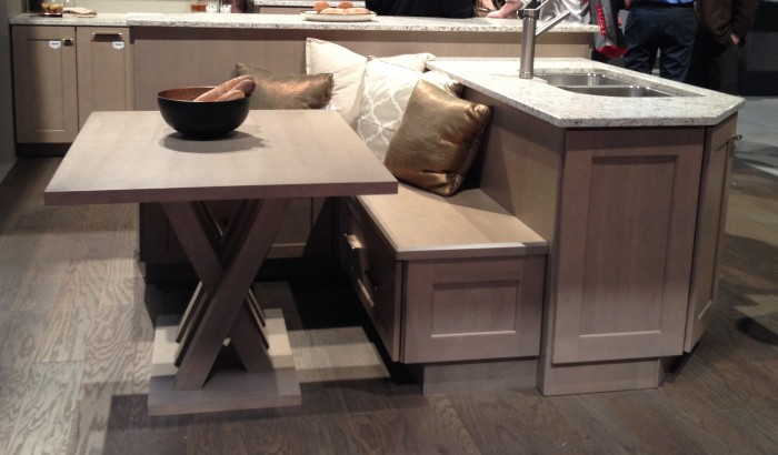 Island banquette by Decora at KBIS 2015