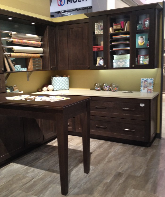 Craft room organization complete with  gift wrap station at 2015 KBIS