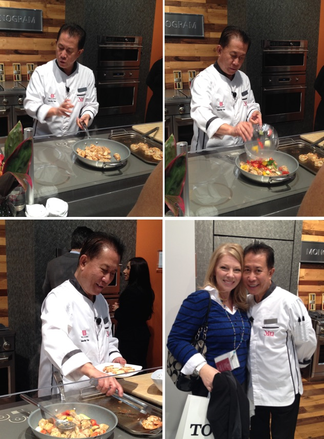 Martin Yan at KBIS 2015, demonstrating the GE Monogram induction cooktop. He was kind enough to take a photo with me!