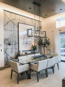 Dining room with smart lighting, KB Home ProjeKt