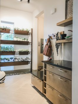 Indoor garden + mudroom