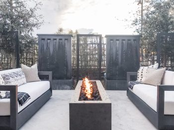Outdoor living space at KB Home ProjeKt 2019