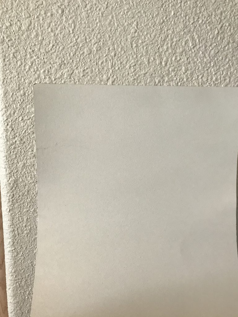 Actual wall color compared with the sample