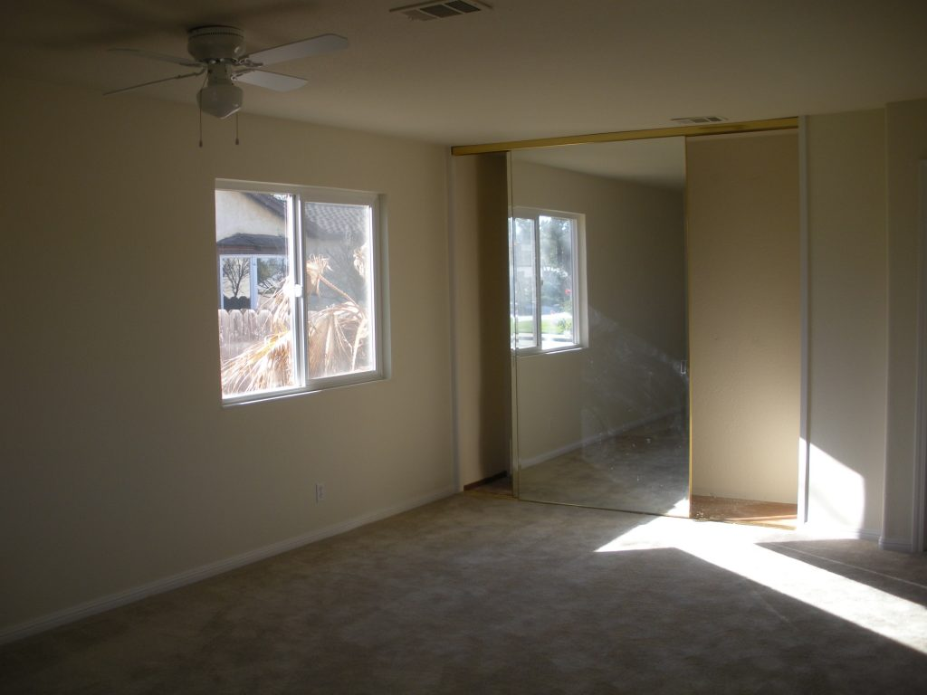 Before photo of the home office space