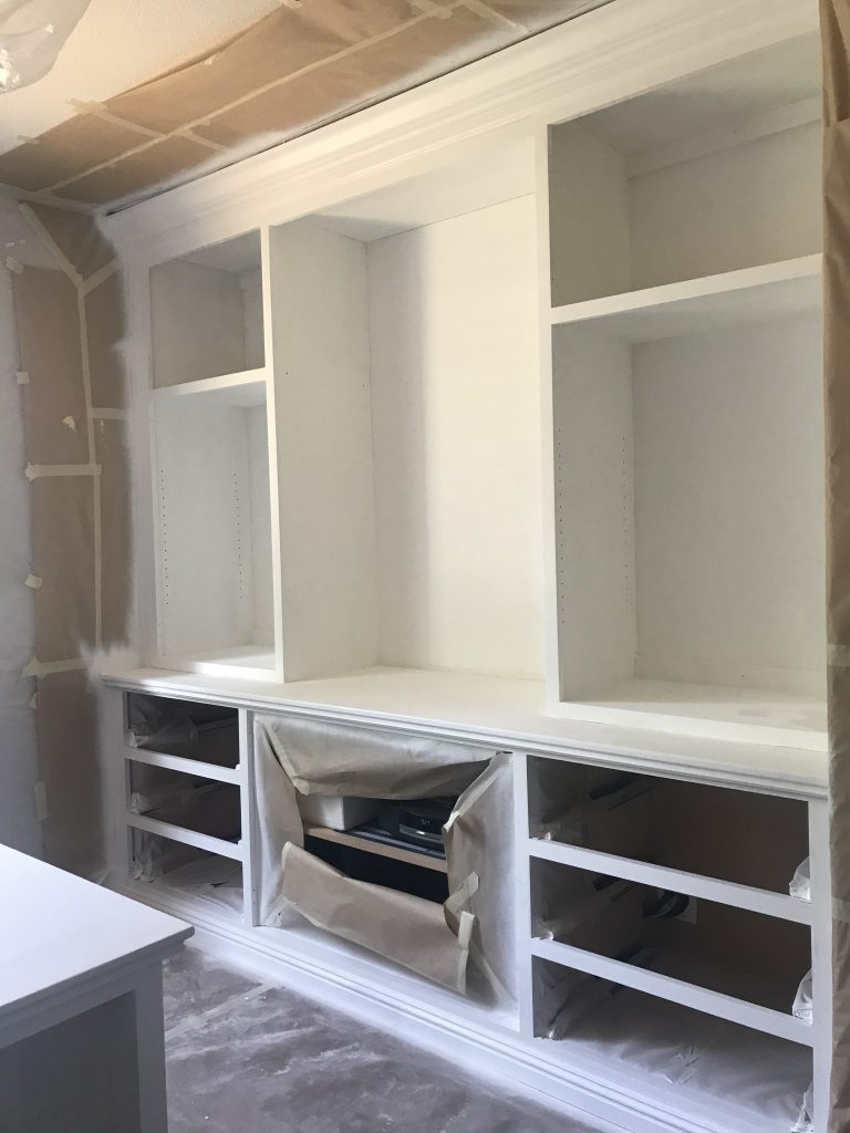 Built-ins after primer application
